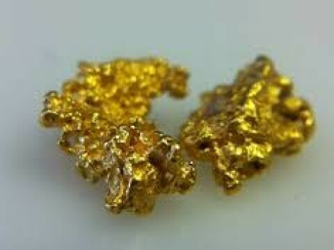 gold nugget - dust and bars